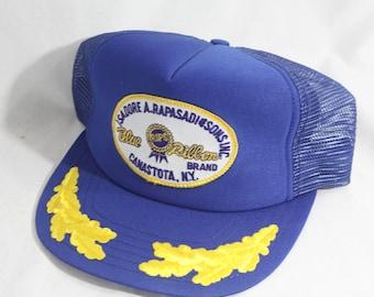 Vintage Pabst Blue Ribbon  Trucker Hat PBR Made In America
