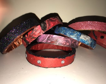 Hand made recycled paper bangle