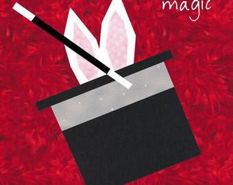 Magic Quilt Block - Magician Quilt Pattern - Rabbit in Hat