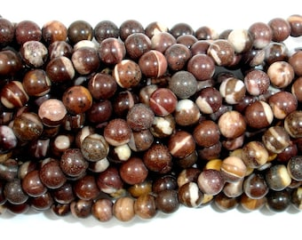 Brown Zebra Jasper Beads, Round, 4mm (4.4 mm), 16 Inch, Full strand, Approx 94 beads, Hole 0.5 mm, A quality (173054005)