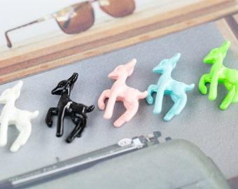 4 pieces deer charm,deer jewelry,deer, deer pendant,color pendant,pendant,DIY necklace,DIY bracelet,jewelry making,jewelry supply,cute,handm