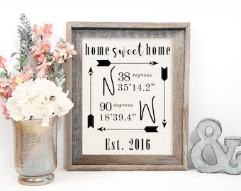 Home sweet home, Personalized Home sweet home sign, Home Sweet home wall decor, Home Sweet Home print, Home Sweet home burlap print
