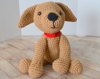 Crochet Puppy Dog, Stuffed Animal, Amigurumi Puppy Plush, Made to Order