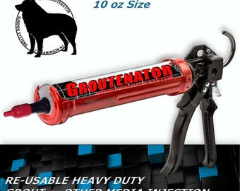 GROUTENATOR JR +Plus G-Gun Total System - Grout injection systems for Grout & More - Grout Bag and Float replacement - Refillable 10oz tube