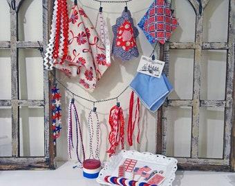 inspiration kit No049 - red white blue summer