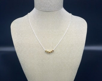 Shiny gold nugget bead necklace