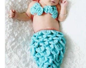 One size Infant new mermaid photo set