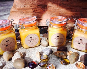 100% Pure Beeswax mini/Jar Candle. Natural Honey or Heilala Vanilla scented