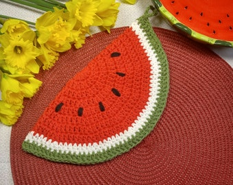 Vintage Summer watermelon potholder/ hot pad/ Kitchen or Table Decor    100% cotton