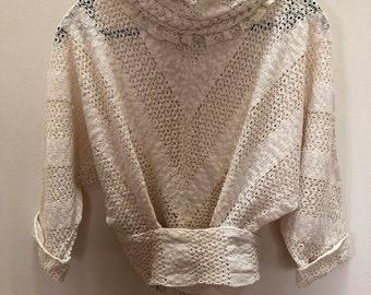 VINTAGE Koos Van Den Akker boho peasant top with matching Boho Skirt - SIZE S DESIGNER vintage