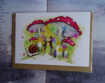 Faerie Dance! A5 Art Card