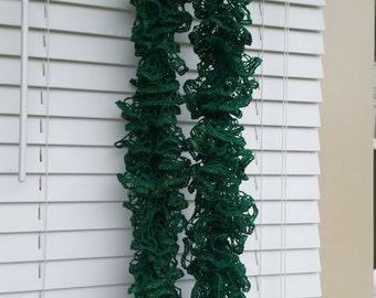 Green Sashay Ruffle Scarf