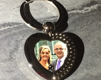 Photo keyring, friendship gift, bereavement, bereavement gift, in memory gift, sentiment, photo gift, wedding gift, Valentine's Day, Father'