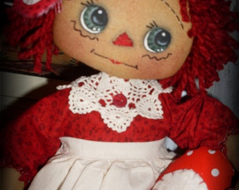 Primitive Cloth Doll PATTERN - Be Mine Annie - KCP138