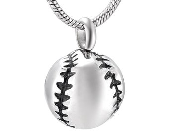 Baseball  Cremation Jewelry Pendant- Cremation Urn- Jewelry for Ashes-Memorial Jewelry- Necklace for Ashes- Keepsake Jewelry