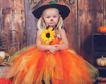 Made to order costumes tutu dress. Example of a scarecrow costume. Hat not included