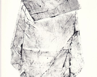 original monotype / black and white prints / original collagraph print