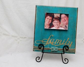 Wood Frame Picture, Rustic Wood Frame, Family Photo Frame, Family Photo Block, Family Photo Display, Acrylic Frame