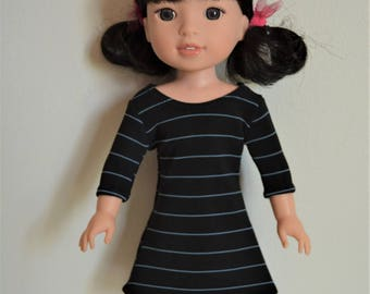 "Handmade Doll Clothes Dress fits 14.5"" American Girl Wellie Wishers Dolls Handcraft J"