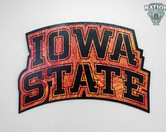 Iowa State Outlined Metal Decor