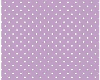 Lavender Swiss Dot Quilting Cotton Riley Blake Designs - White Swiss Dot on Lavendar Purple Fabric - c670 125 Quilt Cotton Printed Fabric