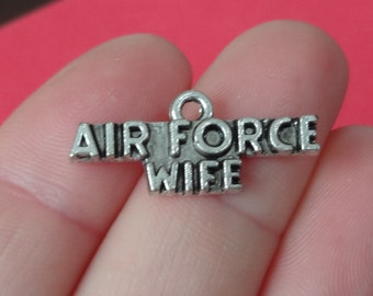 4 AIR FORCE WIFE Charms 11x26mm Item:AG13