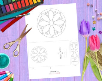 MANDALA printable coloring page PDF - EASINESS