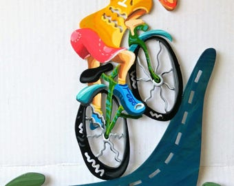 Bicycles, To the top, hand painted