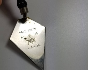 Masonic Lodge Trowel- port huron,Michigan, F.& A.M. Masons Trowel #2