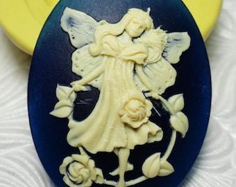 FAIRY CAMEO Mold Flexible Silicone Push Mold for Resin Wax Fondant Clay Fimo Ice 5229