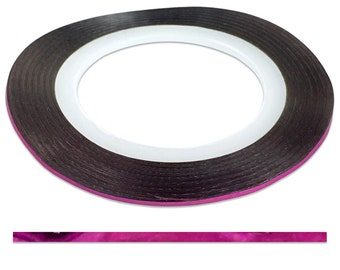 Pink 1.0 mm Nail Striping Tape - No Glue Needed! - For Nail Art, Nail Designs and Patterns, Creating Flawless Manicures and Pedicures