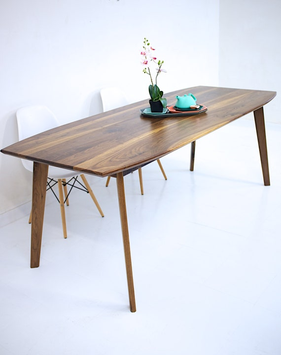 Dining Table Walnut Modern Wood