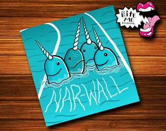 "Nar-Wall  2"" Derby Decal"