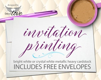 Printing and Shipping Service ADD-ON for your Party Invitation Design