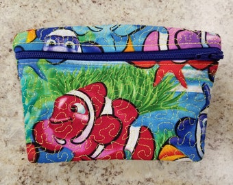Clown fish cash/change/card purse,clutch