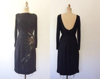 1950s cocktail dress / 50s party dress / Moonstruck dress