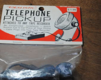 Telephone Pick up/Vintage Electronics/Realistic/Attached to Tape Recorder