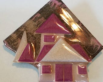 Vintage House Pin by Lucinda, House Pin by Lucinda, house Pin, by Lucinda, realtor house pin, by Lucinda jewelry