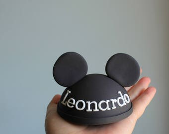 Personalized Fondant Mickey Mouse Ears Cake Topper Edible