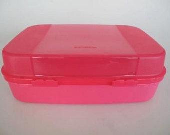 Tupperware Storzalots Container in Fraise (Strawberry Pink) -- RARE from France.