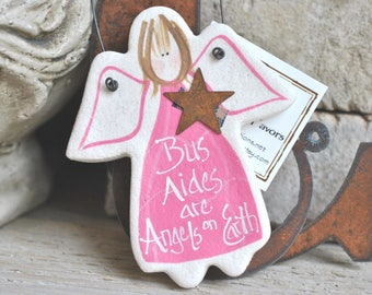 Bus Aide Gift Idea Thank You Appreciation for Bus Helpers Salt Dough Ornament