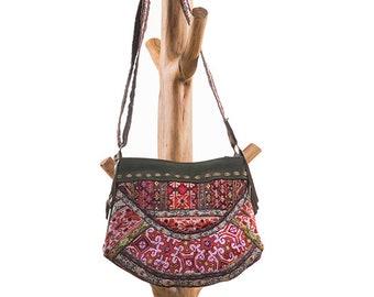 Vintage Suede cross-body shoulder festival bag, Gypsy look, Urban Boho, Ibizastyle 2018