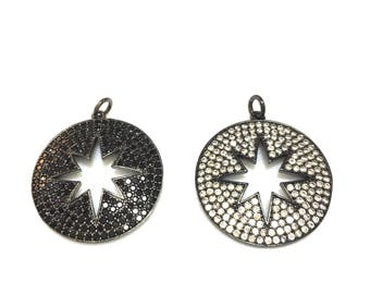 Full pave Cut Out Starburst Pendant/ Charm