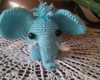 Blue elephant crochet