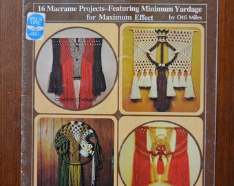 Macrame Wallworks. 16 projects including Creative Contrast, Geometry with Knots, Nature Knots, Table Duet, Table Fancy, Fancy Strands