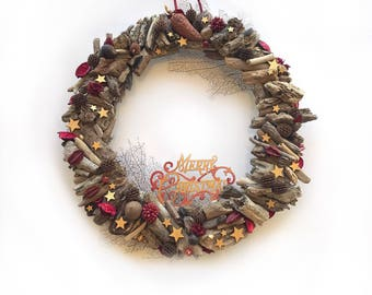 Christmas decoration, holiday wreath, wreath for door, decoration for your beloved home, Wreath, Ready To Ship