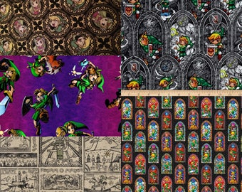 1 Yard Legend Of Zelda Fabric / Hidden Triforce Fabric /  Fabric By The Yard