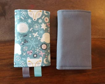 READY to ship protective pads for baby carrier straps - celestial foxes
