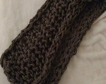 Arm-Knit Infinity Scarf in Barley