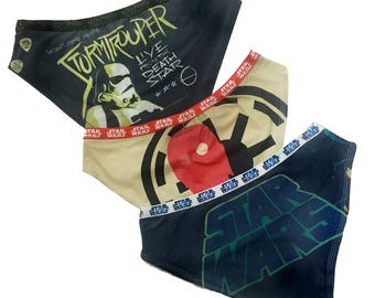 Retro style Star Wars panty Pack with imperial soldiers, droids and Darth Vader